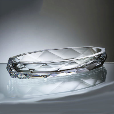 Goldberg Bowl Leaf cut crystal