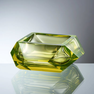 Goldberg Six Square Collection Uranium Glass